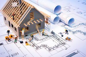 Budowa dachu - wiązary kratowe i blacha falista